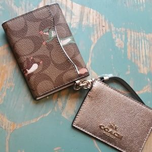 Coach Wallet NEW with Tags NWT Logo Party Animals